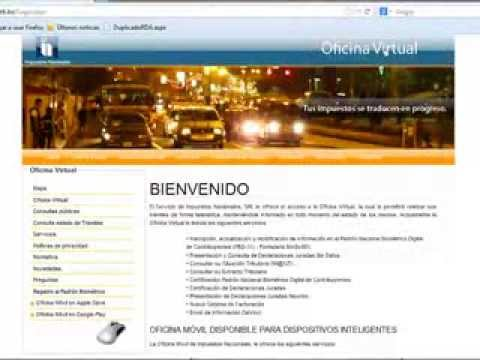 Certificacion del nit por oficina virtual youtube - Oficina virtual del ca ...