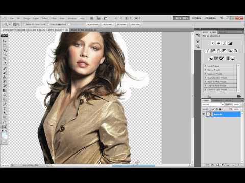 Adobe Photoshop CS5 - How To Remove The Background Of An Image.