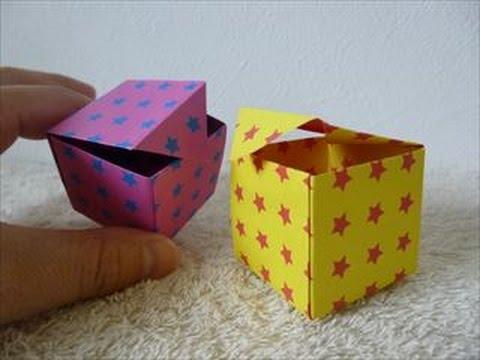 折り方 折り紙四角箱折り方 : ... 箱」折り方・作り方 How to make a