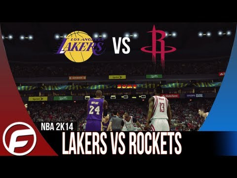 NBA 2K14 Los Angeles Lakers vs Houston Rockets KOBE PUNKS DWIGHT HOWARD PART 2