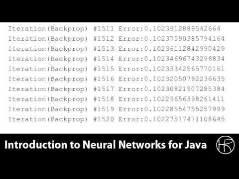 Introduction to Neural Networks for Java (Class 11/16, Part 4/5)predict stock market