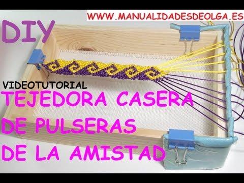 COMO HACER UNA TEJEDORA CASERA PARA REALIZAR PULSERAS DE LA AMISTAD CON DIBUJOS. TUTORIAL DIY