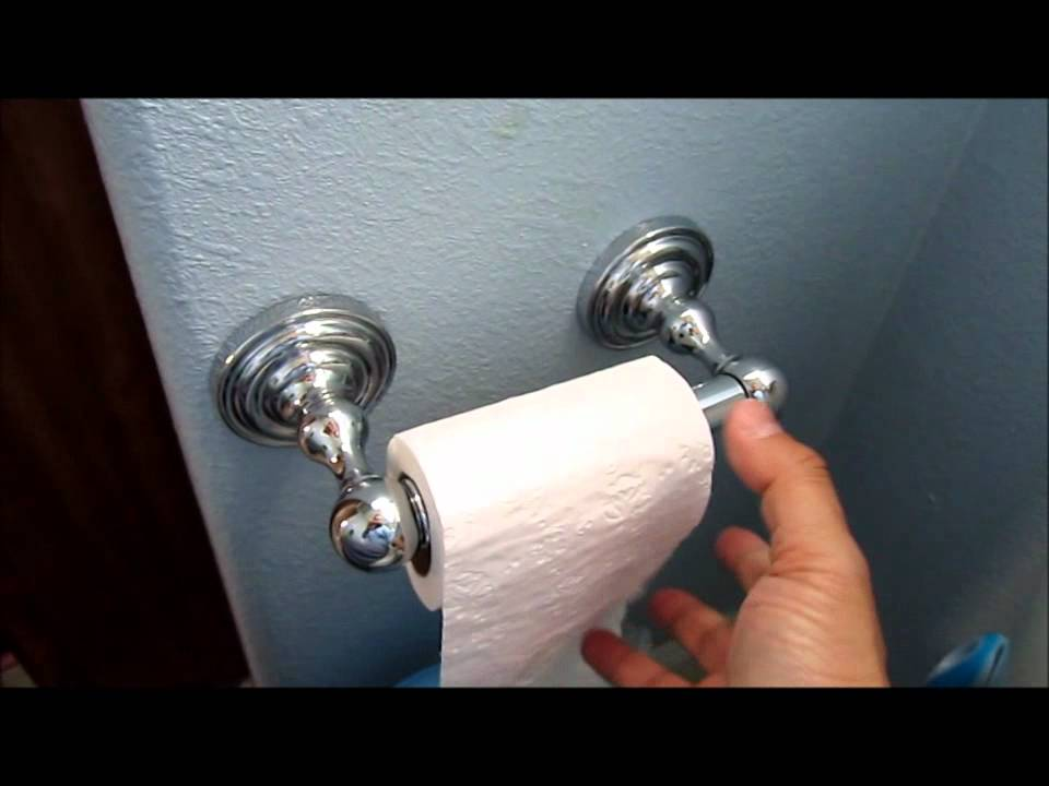 How To Install Toilet Paper Holder Youtube