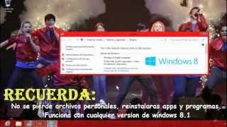 Como Volver De Windows 8.1 A 8 Original Crear Una Unidad