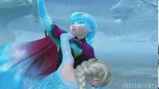 Frozen Anna Saves Elsa Scene