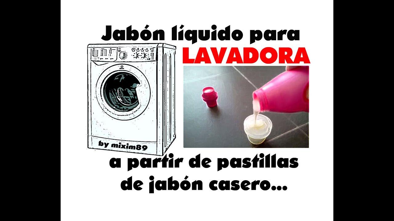Jab n l quido para lavadora a partir de pastillas de jab n - Jabon natural para lavadora ...
