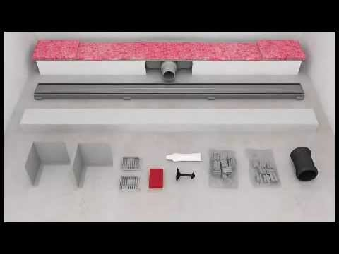bauhaus tv montage einer duschrinne youtube. Black Bedroom Furniture Sets. Home Design Ideas