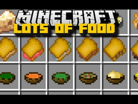 Minecraft LOTS OF FOOD MOD / BUILD YOUR OWN RESTAURANT!! / Minecraft