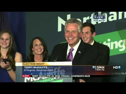 Terry McAuliffe 2013 Victory Speech (C-SPAN)