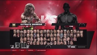 WWE 2K14 Character Select Screen Including All DLC Packs