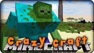 Minecraft mods crazy craft ep 3 mutant zombie attack morph