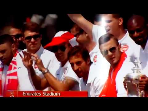Arsenal Players Doing Arsenal Fan Chants - F.A Cup Winners Trolling Tottenham Wilshere Chant