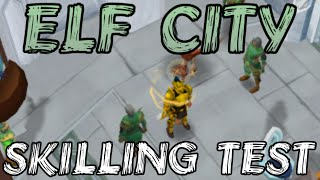 Elf City Skilling Test: High Level Thieving And Mining XP