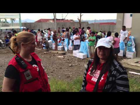 Red Cross Delivers Relief Supplies to Magaswe, Philippines