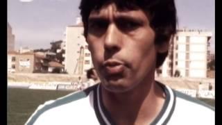 Manuel Fernandes e João Rocha no jogo da consagração do título em 1981/1982