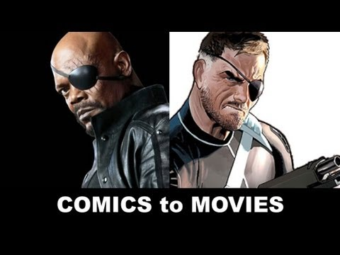 The Avengers 2012 - Samuel L Jackson is Nick Fury!  From Comics to Trailer to Movie!