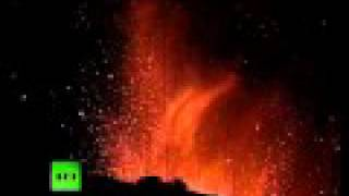 Video of Guatemala Pacaya volcano eruption