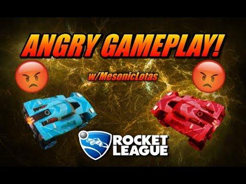 ANGRIEST GAMEPLAY EVER | Rocket League | w/Mesoniclotas