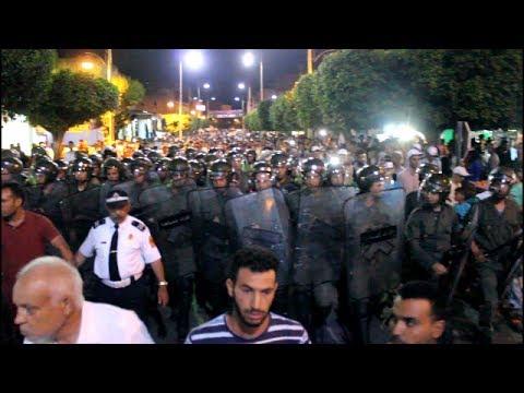 تدخلات أمنية لتفريق محتجين بالقصر الكبير