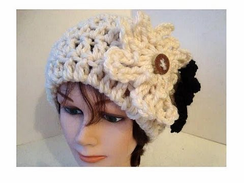 Crochet Patterns Youtube Hats : CROCHET PATTERN, cloche hat, Adult size - YouTube