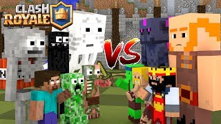 Monster School : Clash Royale Battle - Minecraft Animation