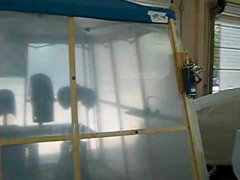 how to make a cheap paint booth