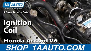 How To Install Replace Ignition Coil Honda Accord V6 2.7L