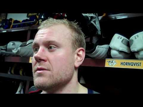 Patric Hornqvist - Post Game - Nashville Predators vs Anaheim Ducks