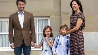 The touching moment Princess Mary comforts her young son