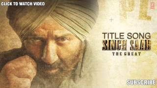 Singh Saab The Great Full Song (Audio) Sunny Deol