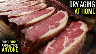 How to DRY AGE STEAKS AT HOME for Sous Vide - DIY Dry Aged