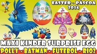 MAXI Kinder Surprise EGGs Batman Polly Futebol