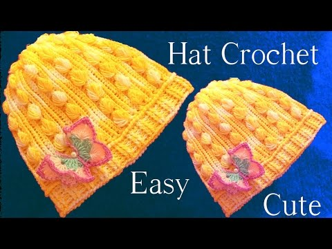 Aprende como tejer a Crochet gorro con hojas miniaturas en alto relieve - How to Crochet