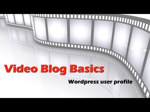 Video Blog Basics: Wordpress user profile for your video blog. How to keep it secure and safe