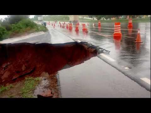 Chuva complica ainda mais situação da SP-294