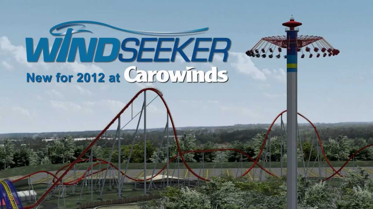 windseeker new for 2012 at carowinds youtube
