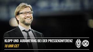 LIVE: Pressekonferenz mit Klopp und Aubameyang vorm Spiel Juventus gegen Borussia Dortmund