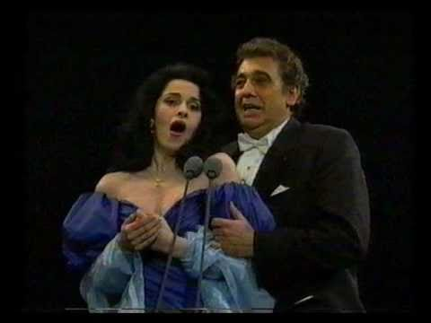 Angela Gheorghiu/Placido Domingo - La Traviata - Brindisi - Prague 1994