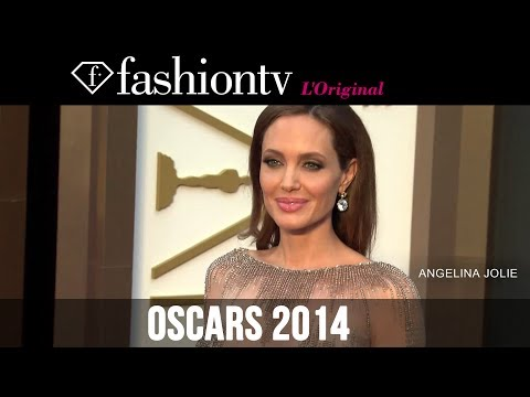 Angelina Jolie, Brad Pitt, Lady Gaga, Kevin Spacey, Amy Adams at Oscars 2014 Red Carpet | FashionTV