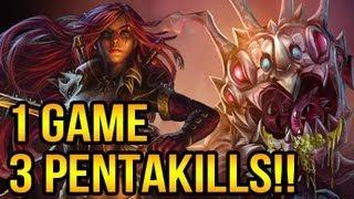 3 Pentakills In 1 Game