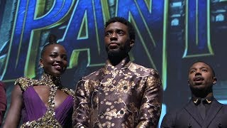 Black Panther World Premiere Red Carpet - Chadwick Boseman, Michael B. Jordan, Danai Gurira