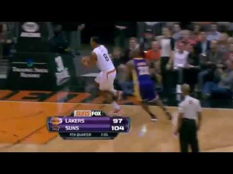 Channing Frye Throws Down the HUGE Slam | Suns vs Lakers |