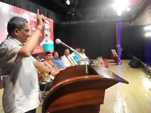 Manohar Parrikar on NaMo4pm Bangalore Volunteers event
