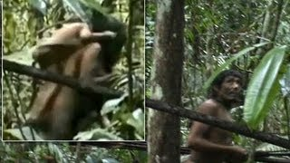 The Moment Brazil's isolated Amazon Kawahiva Tribe captured for first time on video. view on youtube.com tube online.