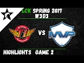 SKT vs MVP Highlights Game 2 LCK Spring W3D3 2017 SK Telecom T1 vs MVP