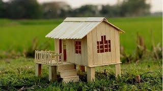 Casa de palitos para niños