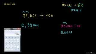 Deljenje decimalnega števila z 10