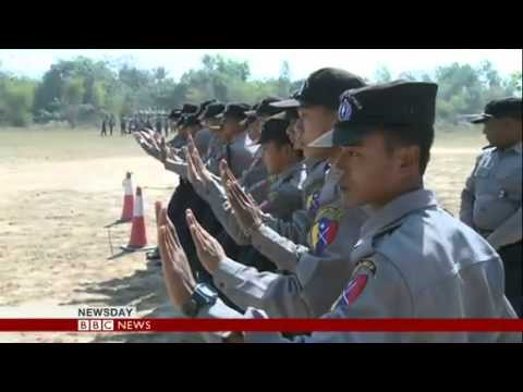 Myanmar police undergo riot training 2