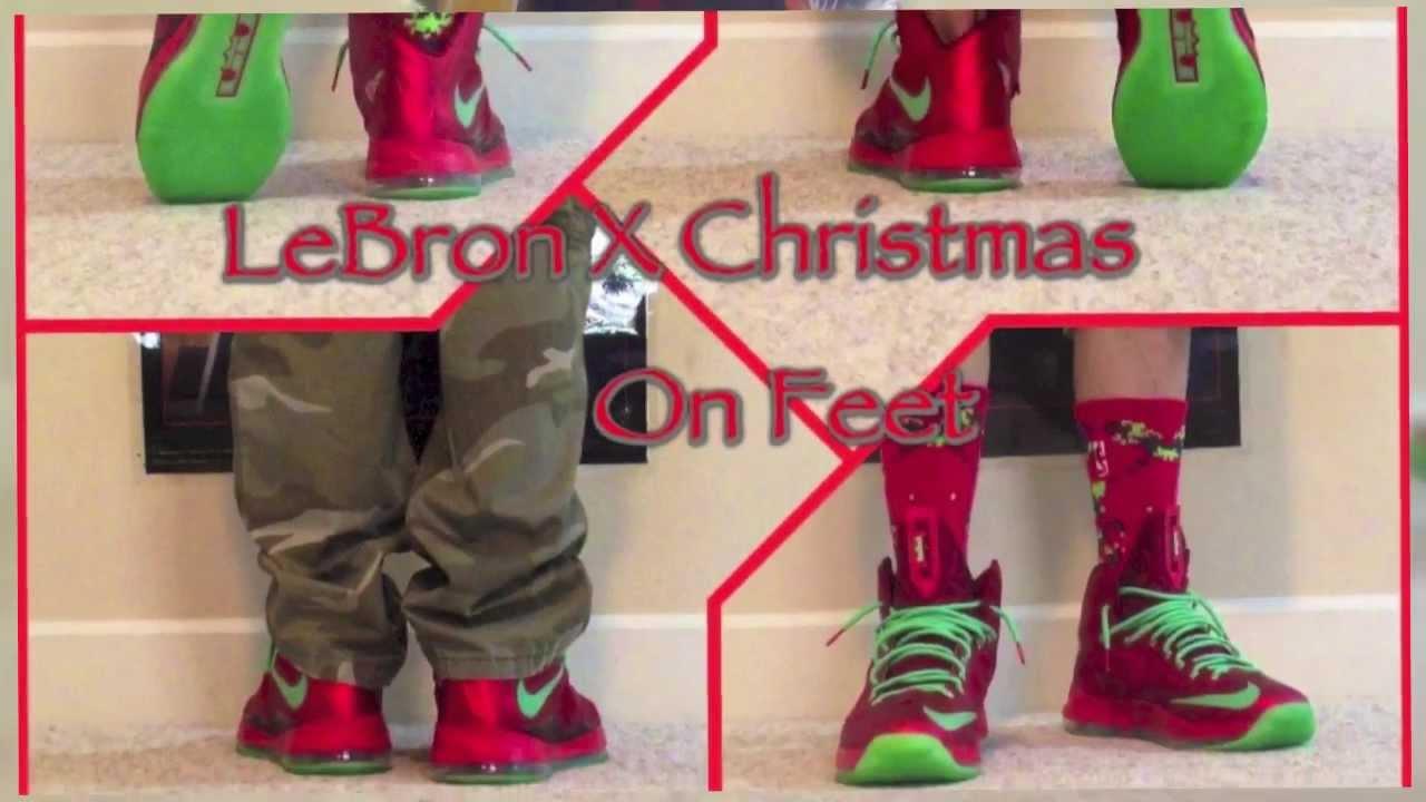 Displaying 20 gt  Images For - Lebron 10 Christmas On Feet   Lebron 10 Christmas On Feet