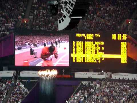 Mens 200m T44 Final, London Paralympics 2012 .Blade runner beaten by Oliveira
